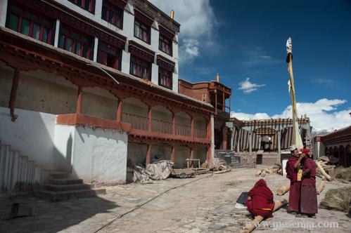 Pati del Monestir de Matho, Ladakh