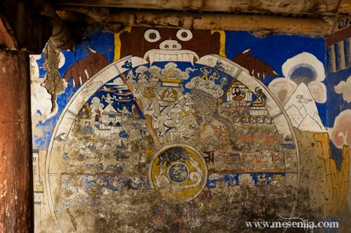 Pintura mural al monestir de Tak Tok