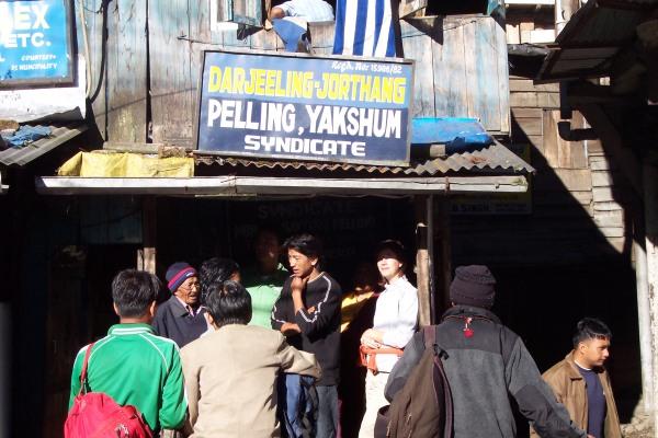 Puesto de taxis compartidos a Sikkim