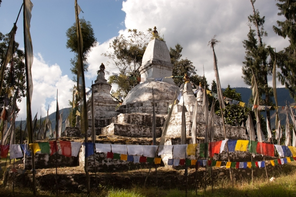 Conjunto de stupas antiguas