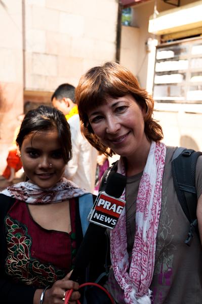 Entrevista per la TV local
