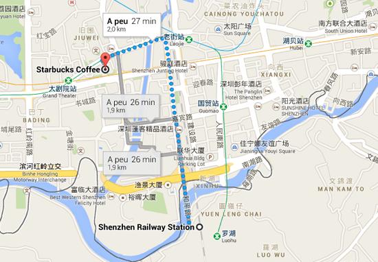 Mapa de shenzhen, Xina