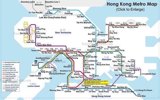 mapa de metro de hong kong