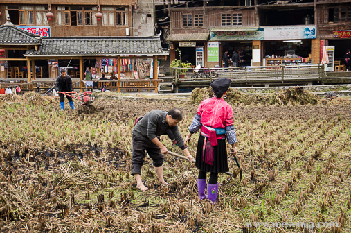 Dona étnia Yao a Dazhai